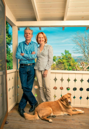 Michael Ritchie and Kate Burton
